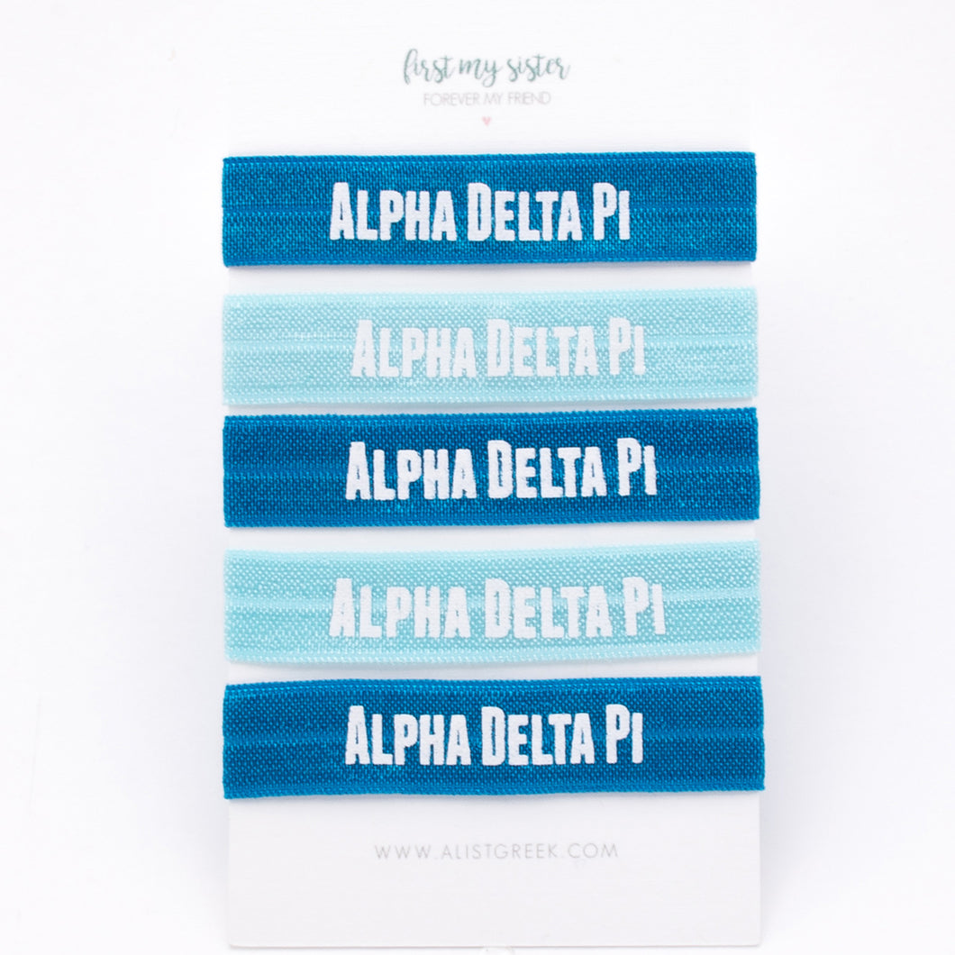 ALPHA DELTA PI HAIR TIE SET