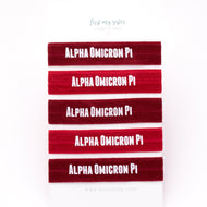 ALPHA OMICRON PI HAIR TIE SET