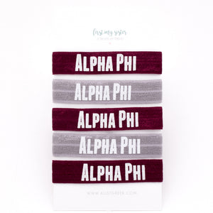 ALPHA PHI HAIR TIE SET