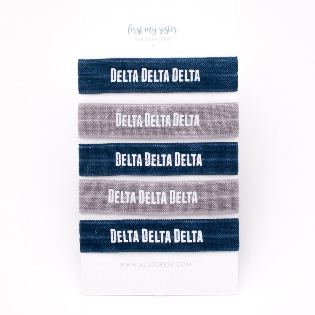 DELTA DELTA DELTA HAIR TIE SET