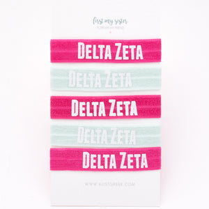 DELTA ZETA HAIR TIE SET