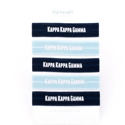 KAPPA KAPPA GAMMA HAIR TIE SET