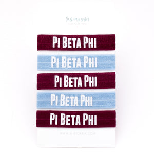 PI BETA PHI HAIR TIE SET