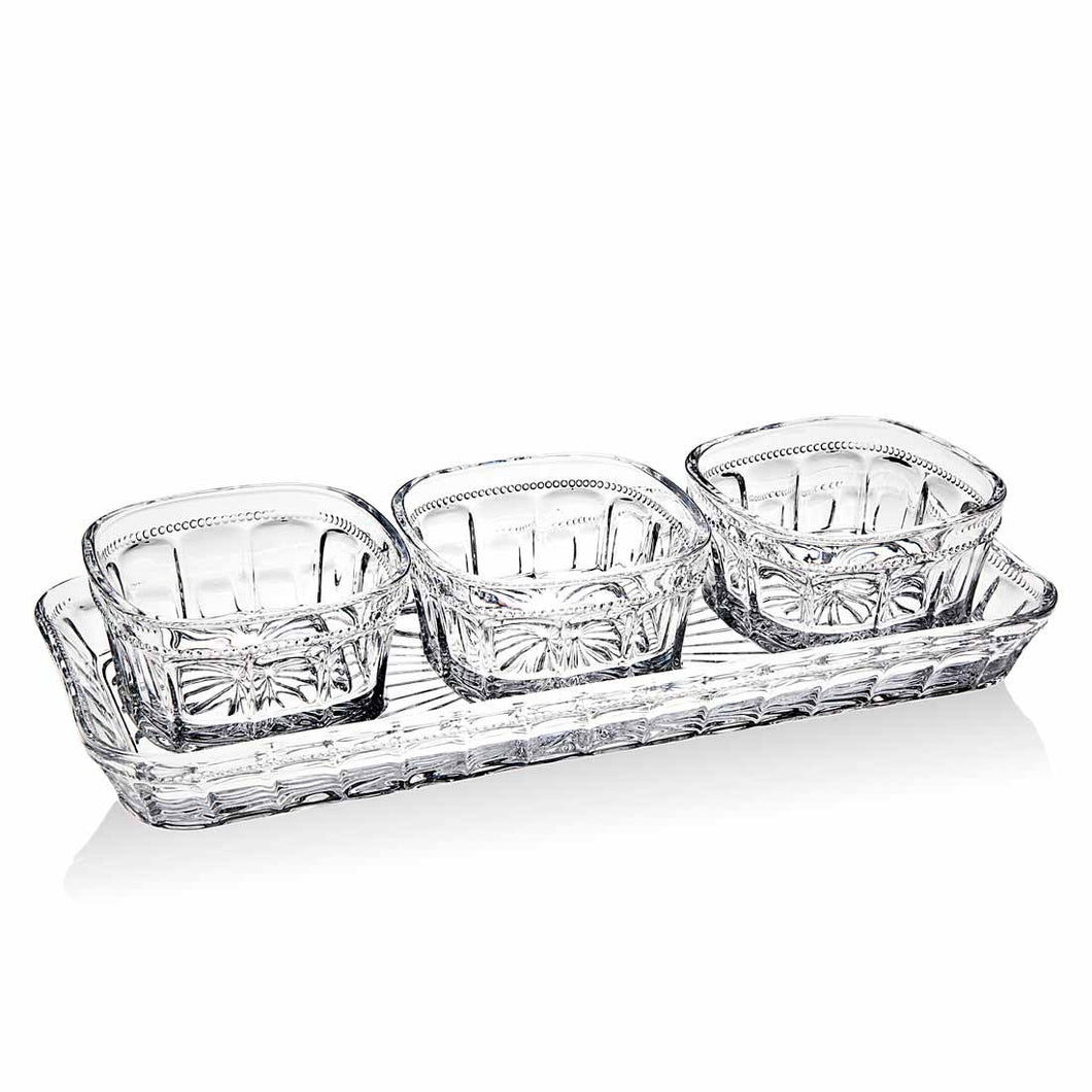 HAMILTON HOUSE 4 PIECE RELISH SET