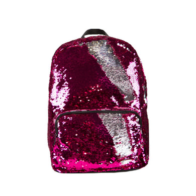 MAGIC SEQUIN BACKPACK PINK & SILVER