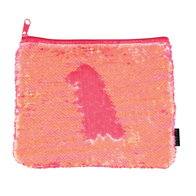 MAGIC SEQUIN POUCH CORAL