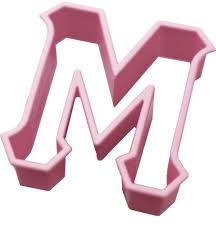 MU GREEK LETTER COOKIE CUTTER