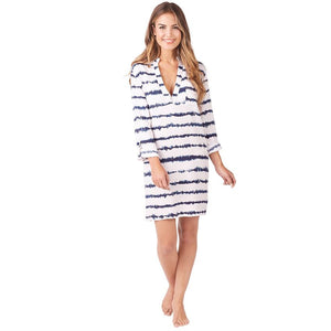 HAVEN NAVY STRIPE TUNIC LARGE