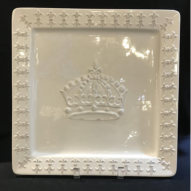 LARGE SQUARE CROWN PLATTER