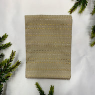 SILVER AND GOLD STRIPE HAND TOWEL