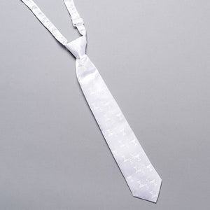 WHITE COMMUNION TIE