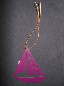 SIGMA SIGMA SIGMA SAILBOAT ORNAMENT