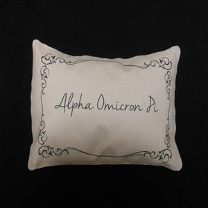 ALPHA OMICRON PI LUMBAR PILLOW