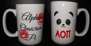 ALPHA OMICRON PI COFFEE MUG