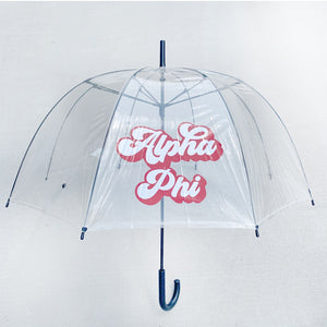 ALPHA PHI CLEAR DOME UMBRELLA