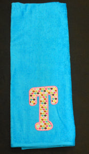 APPLIQUE INITIAL BEACH TOWEL