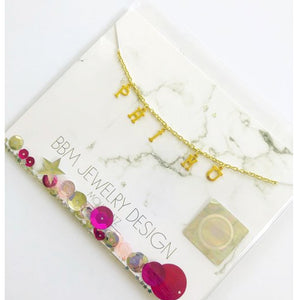 PHI MU LETTERS NECKLACE