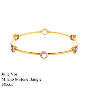 MILANO 6 STONE NANGLE AMETHYST GOLD MEDIUM
