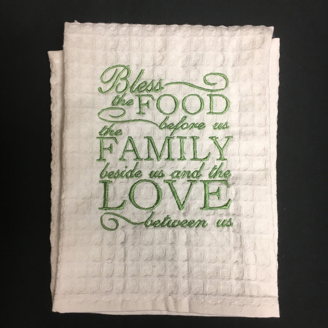 BLESS THE FOOD HAND TOWEL