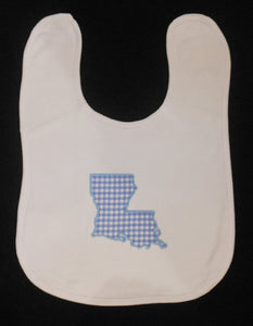 BLUE LOUISIANA BABY BIB