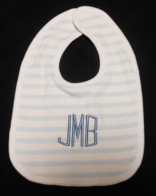 BLUE STRIPED BABY BIB