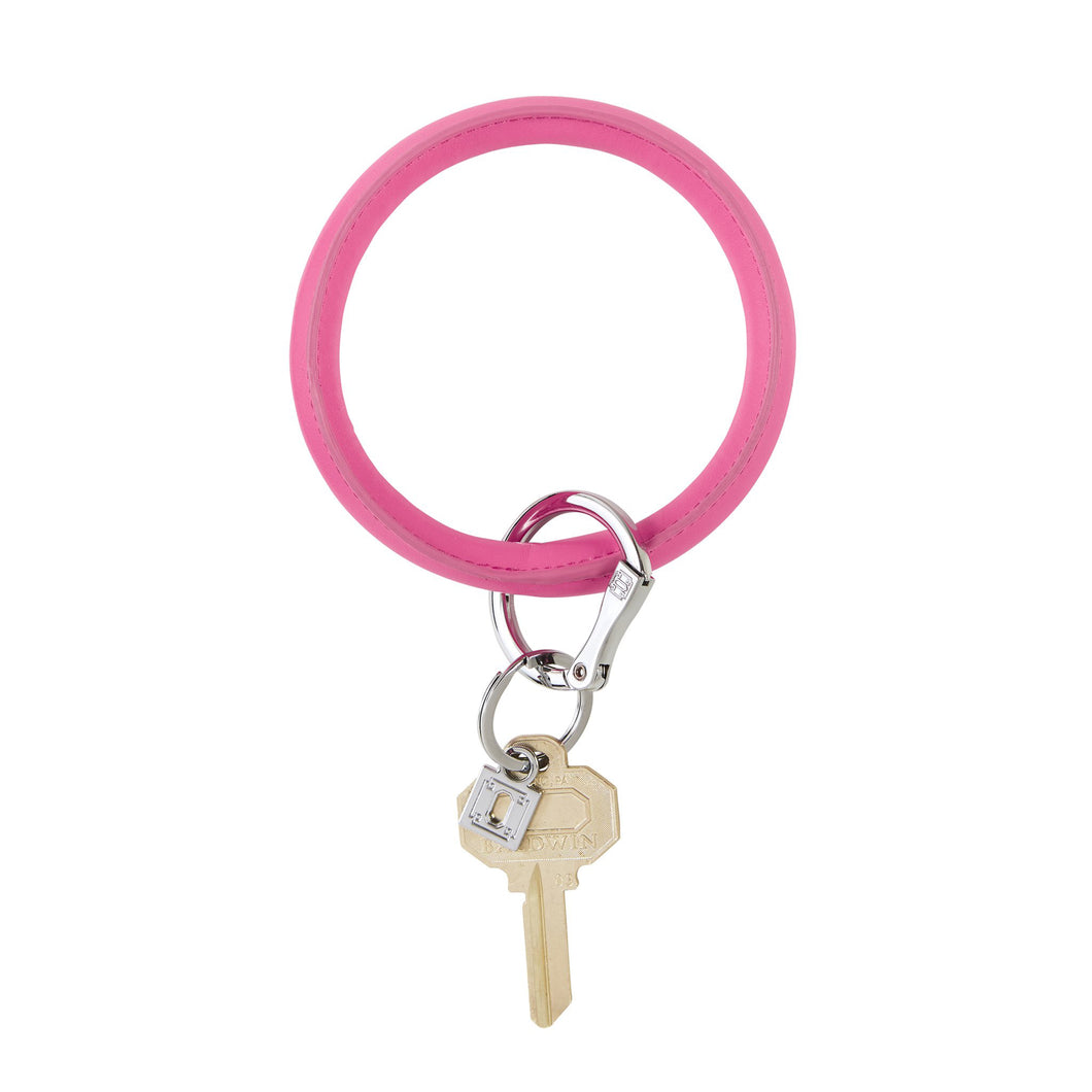 TICKLED PINK VEGAN LEATHER KEYRING