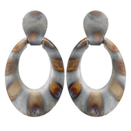 NICA EARRING BURNISHED SILVER