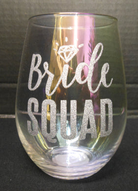 BRIDE SQUAD STEMLESS WINE GLASS