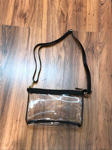 LARGE CROSSBODY CLEAR PURSE BLACK