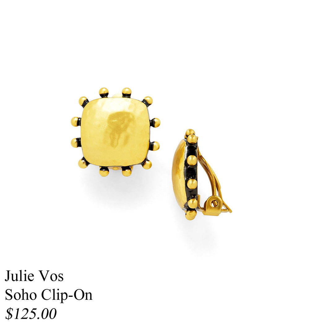 SOHO CLIP-ON EARRING MIXED METAL