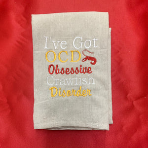 OBSESSIVE CRAWFISH DISORDER HAND TOWEL