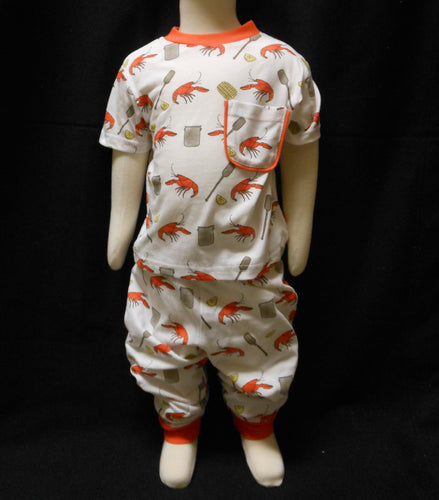 CRAWFISH BOIL PAJAMA SET 3T