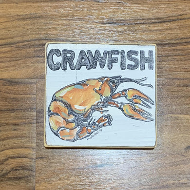 CRAWFISH WOOD SIGN