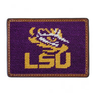 LOUISIANA STATE UNIVERSITY NEEDLEPOINT CARD WALLET