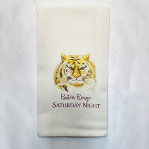 TIGER LOUSIANA STATE UNIVERSITY BATON ROUGE SATURDAY NIGHT HAND TOWEL