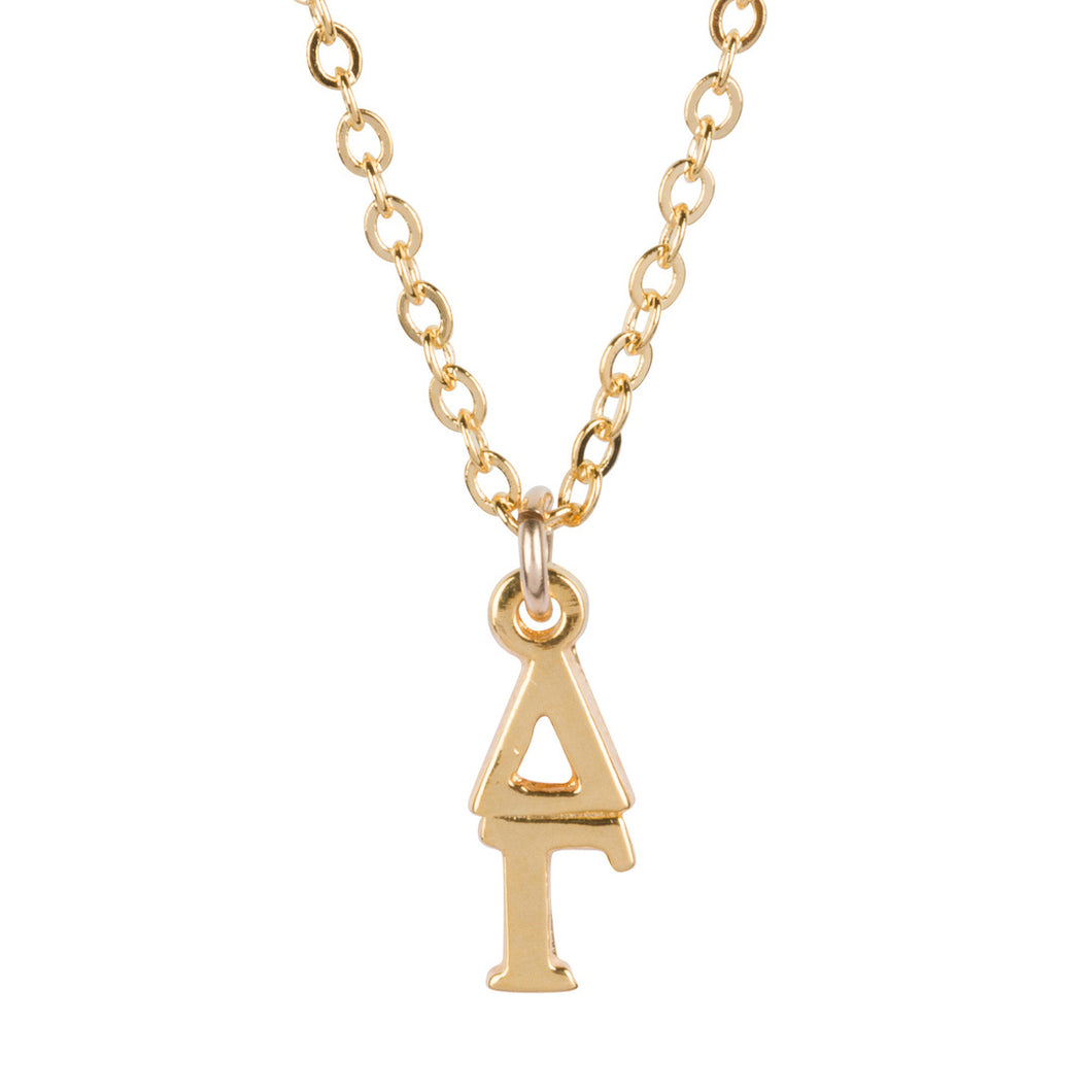 DELTA GAMMA GOLD LAVALIERE NECKLACE