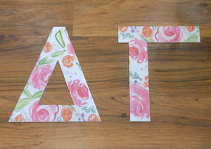 DELTA GAMMA FLORAL LETTERS