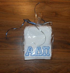 ALPHA DELTA PI DOT HAND TOWEL