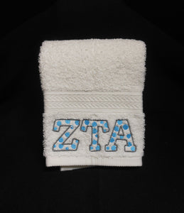 ZETA TAU ALPHA DOT HAND TOWEL