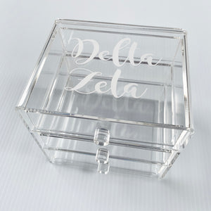DELTA ZETA ACRYLIC JEWELRY BOX