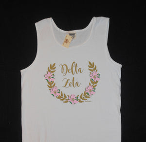 DELTA ZETA FLOWER WREATH TANK