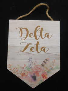 DELTA ZETA WOOD PLAQUE