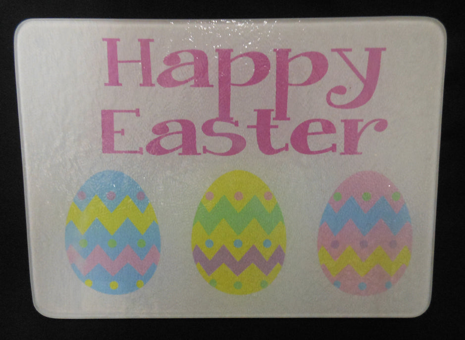 EASTER GLASS CUTTING BOARD