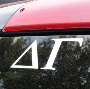 DELTA GAMMA WHITE DECAL LETTERS