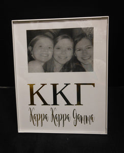 Kappa Kappa Gamma Gold Foil Frame Sanctuary Home Gifts