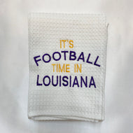 IT IS FOOTBALL TIME IN LOUISIANA HAND TOWEL