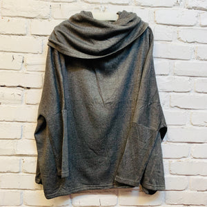 LOOSE SWEATER CHARCOAL