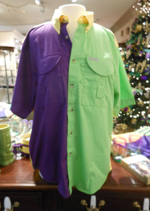 MARDI GRAS MENS FISHING SHIRT