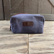 GREY BLUE MEDIUM DOPP KIT