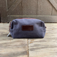 GREY BLUE SMALL DOPP KIT